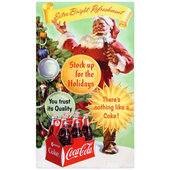 VintageSanta_W0779 Wholesale Sticker