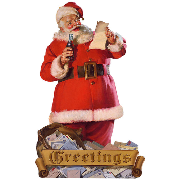 VintageSanta_W2283 Wholesale Sticker