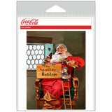 Coca-Cola Santa with Elf Sparkling Holidays Sticker