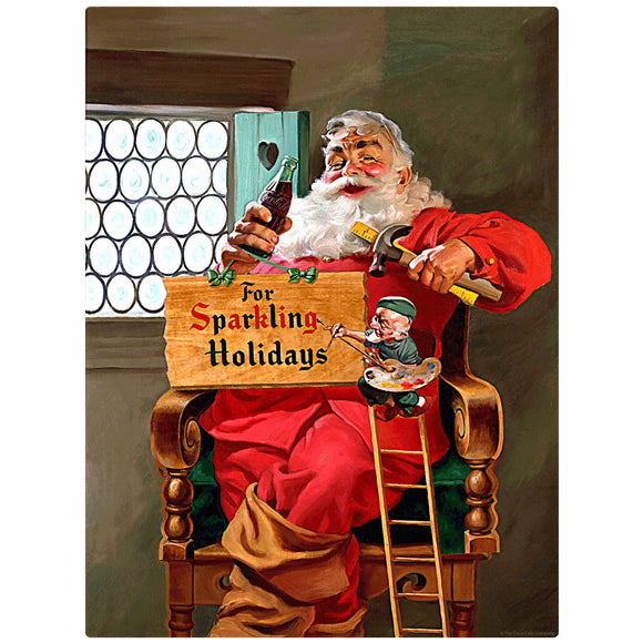 VintageSanta_W2303 Wholesale Sticker