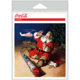 Coca-Cola Santa Seasons Greetings Helicopter Sticker