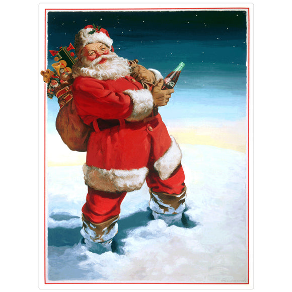 VintageSanta_W5275 Wholesale Sticker