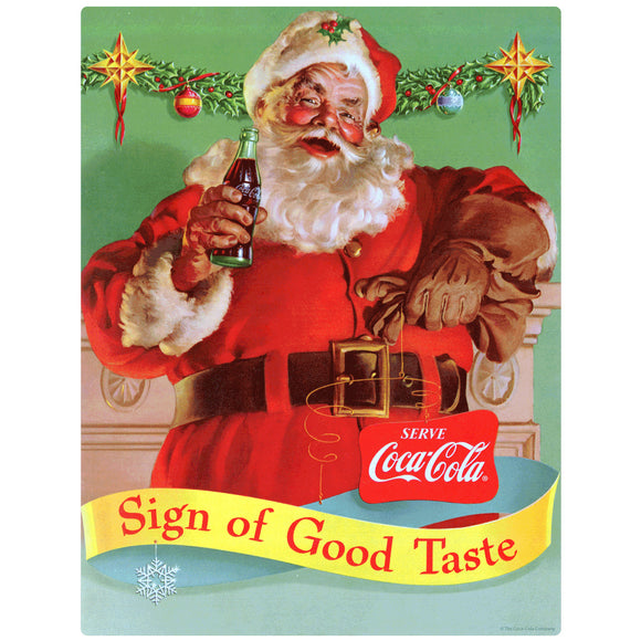 Coca-Cola Santa Sign of Good Taste Wholesale Sticker