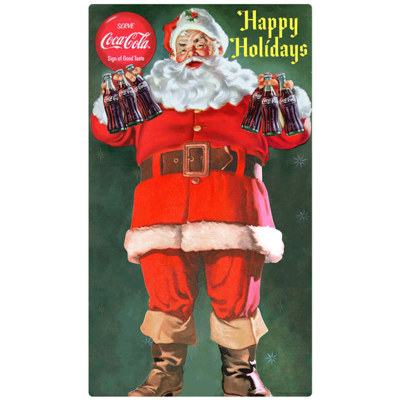 Coca-Cola Santa Happy Holidays Wholesale Sticker