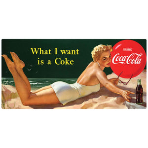 Coca-Cola Bathing Beauty What I Want Wholesale Sticker
