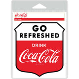 Coca-Cola Go Refreshed Shield Sticker