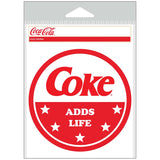 Coke Adds Life Red White Sticker