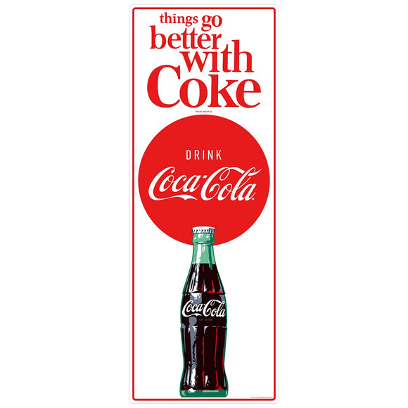 Things Go Better Coke Vertical Composite Wholesale Sticker