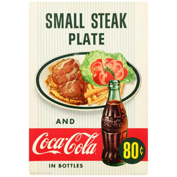 Coca-Cola Small Steak Plate Sign Wholesale Sticker