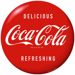 Coke Delicious Reg US-D106994_on_D108067 Button Wholesale Sticker