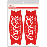 Coca-Cola Fishtail Refreshing New Feeling 1960s Decal