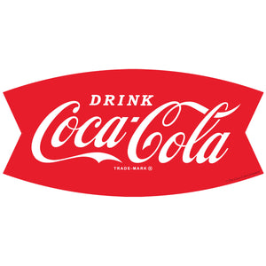 Drink Coca-Cola Fishtail Logo 1960s Wholesale Decal