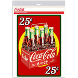 Coca-Cola 25 Cents Six Pack Decal