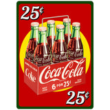 Coke 25Cents SixPack and Distressing Options Wholesale Decal