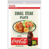 Coca-Cola Small Steak Plate Diner Decal