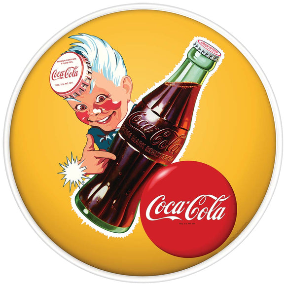 Sprite Boy and Coke Button Yellow Sign Wholesale Decal