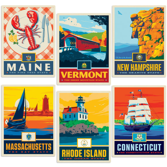 New England States Decal Set