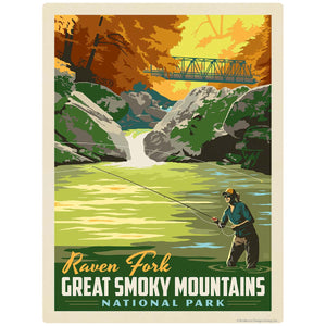 Raven Fork Decal Smoky Mtns National Park