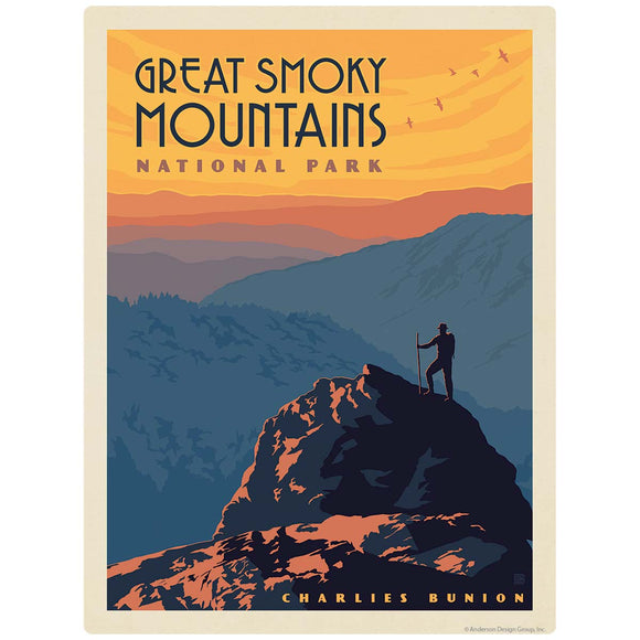 Charlies Bunion Decal Smoky Mtns National Park