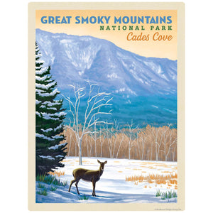 Cades Cove Deer Decal Smoky Mtns National Park