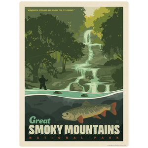 Fly Fishing Decal Smoky Mtns National Park