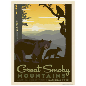 Great Smoky Mtns National Park Bears Vinyl Sticker