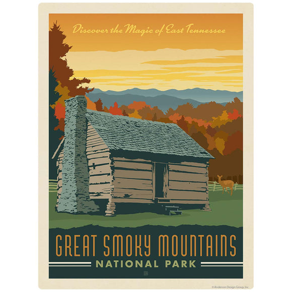 Magic of East Tennessee Decal Smoky Mtns National Park