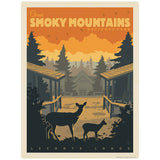 Leconte Lodge Deer Decal Smoky Mtns National Park