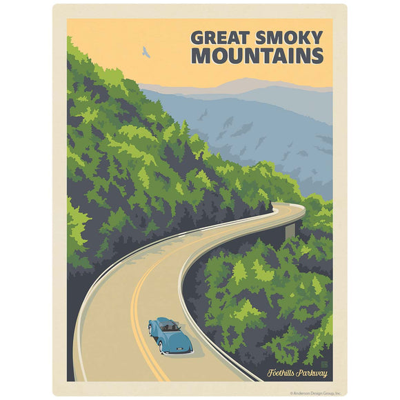 Foothills Parkway Car Decal Smoky Mtns National Park