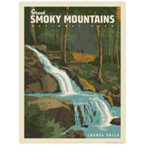 Laurel Falls Decal Smoky Mtns National Park