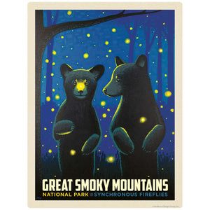 Synchronous Fireflies Decal Smoky Mtns National Park