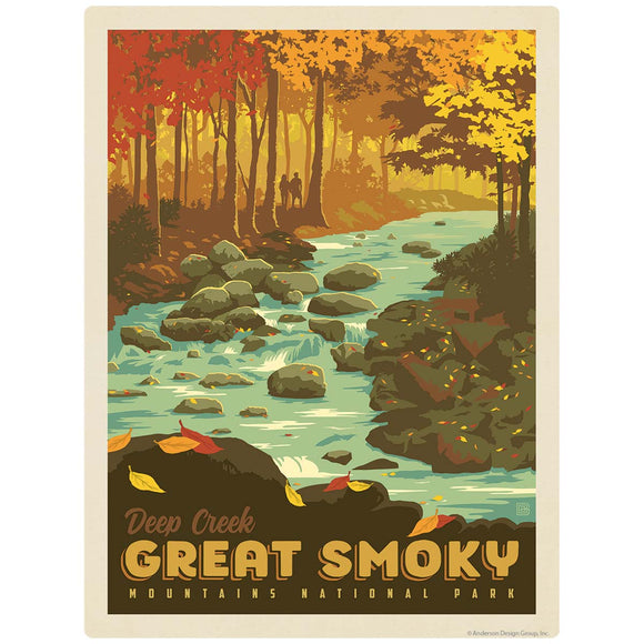 Deep Creek Decal Smoky Mtns National Park