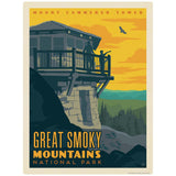 Mount Cammerer Tower Decal Smoky Mtns National Park