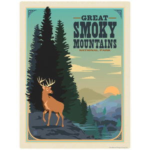 Buck Decal Smoky Mtns National Park