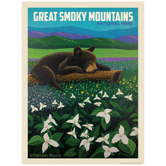 Wildflower Bear Decal Smoky Mtns National Park