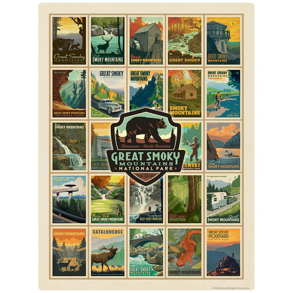 Great Smoky Mtns National Park Collage Vinyl Sticker