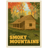 Noah Bud Ogle Cabin Decal Smoky Mtns National Park