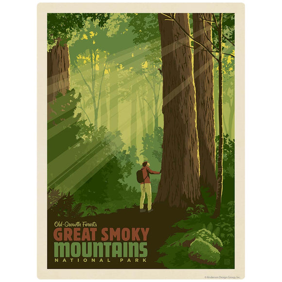 Old-Growth Forests Decal Smoky Mtns National Park