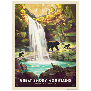 Grotto Falls Decal Smoky Mtns National Park