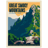 Chimney Tops Decal Smoky Mtns National Park