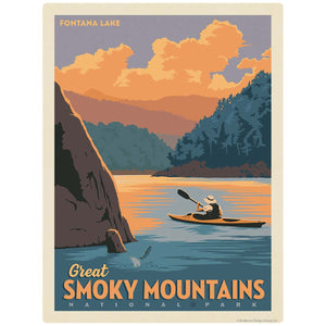 Fontana Lake Decal Smoky Mtns National Park