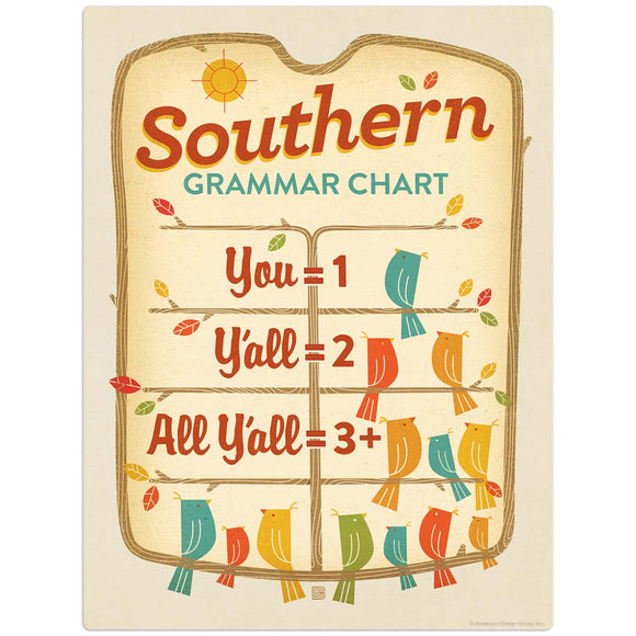 SD_Southern_Grammar_Chart Wholesale Decal