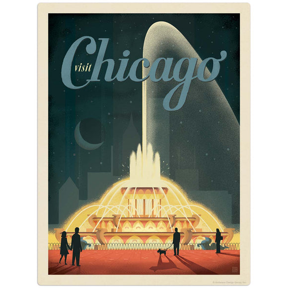 USA_Chicago_Buckingham_Fountain Wholesale Decal