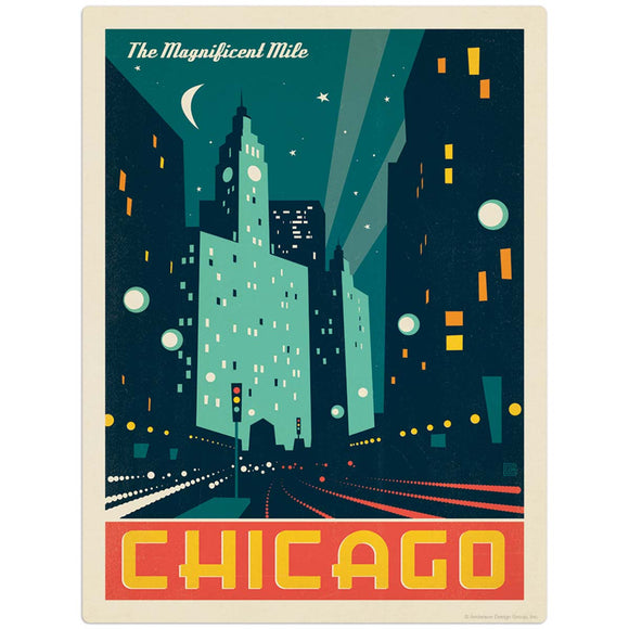 USA_Chicago_Modern_Magnificent_Mile Wholesale Decal