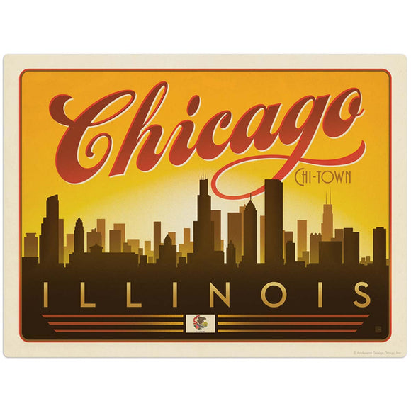 USA_Chicago_Horizontal_Skyline Wholesale Decal