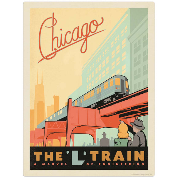 USA_Chicago_L_Train Wholesale Decal