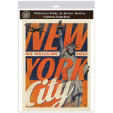 New York City We Welcome You Decal