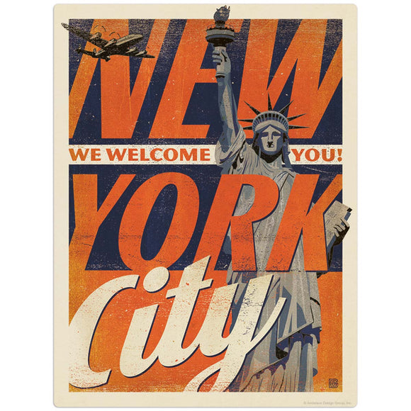 USA_New_York_Vintage_Print_Liberty Wholesale Decal