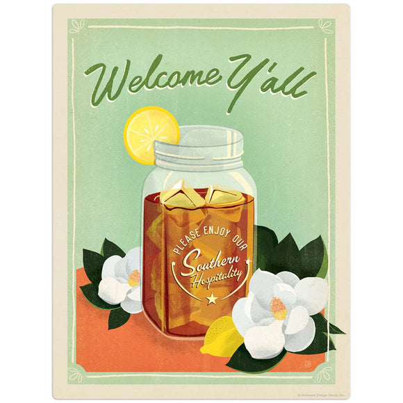 SD_Welcome_Yall_Sweet_Tea Wholesale Decal