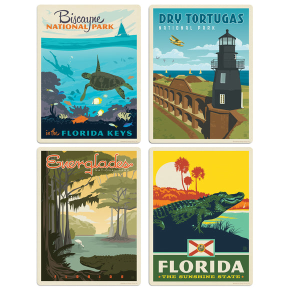 Florida Sunshine State Decal Set of 4